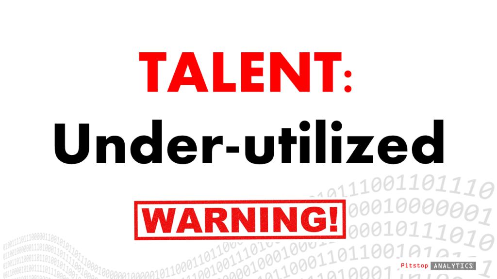A precise measure of talent utilization or indeed under-utilization