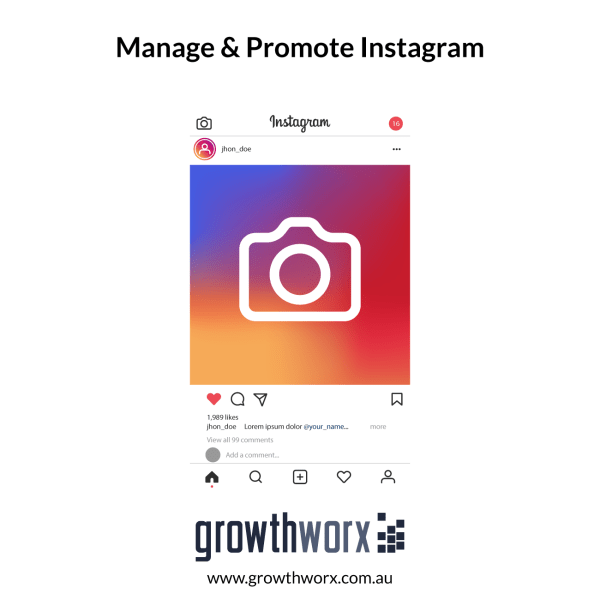 I will professionally manage and promote your instagram 1