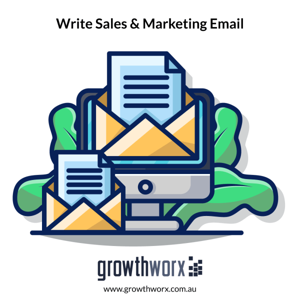 I will write sales and marketing email content 1