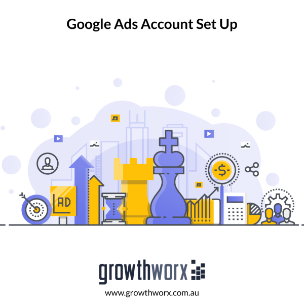 Set up your Google Ads account, up to 50 key words and 1 search ad per ad group, + Goolge Shopping, Dynamic search ads and Retargeting. 1