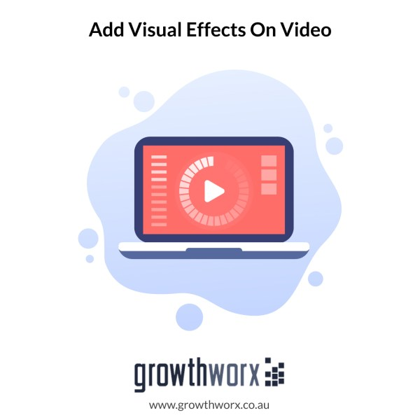 Add special or visual effects on video 1
