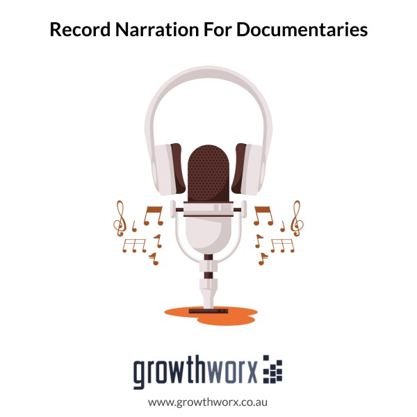 I will record narration for documentaries and audiobooks 1
