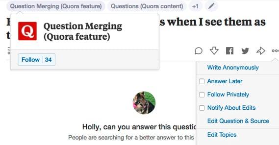 Quora Merging