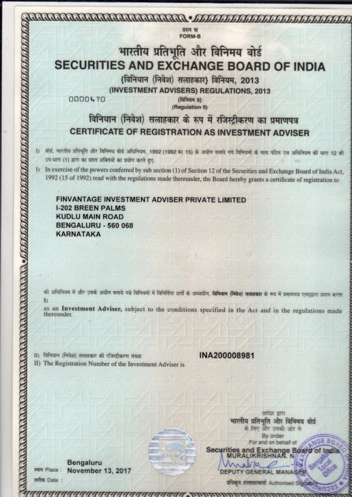 Certificate Of Registration For Investment Adviser Groww Invest