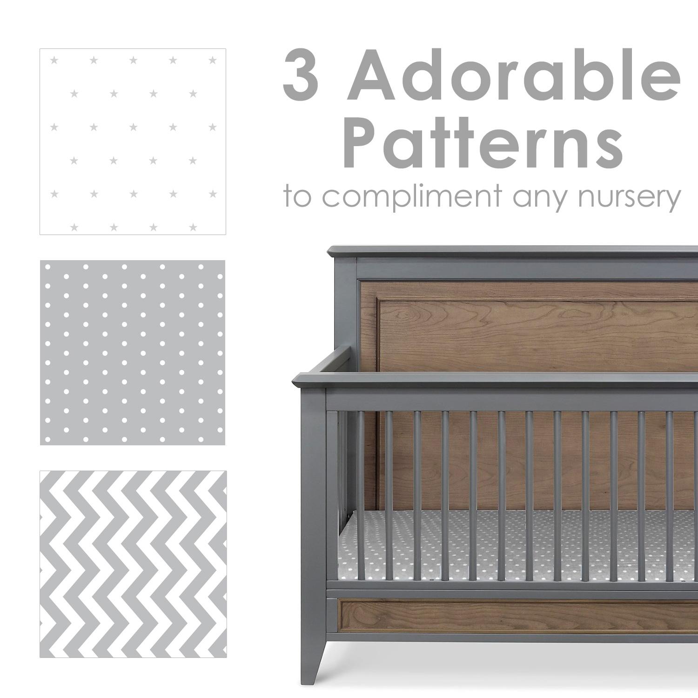 grey crib sheets baby boy or girl grow wild