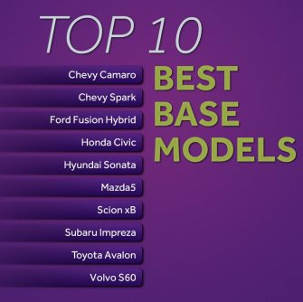 Top 10 base model vehicles