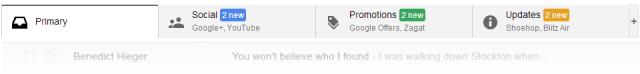 Gmail Tabs auto marketing