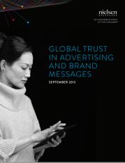 Nielsen Global Trust in Advertising 2013