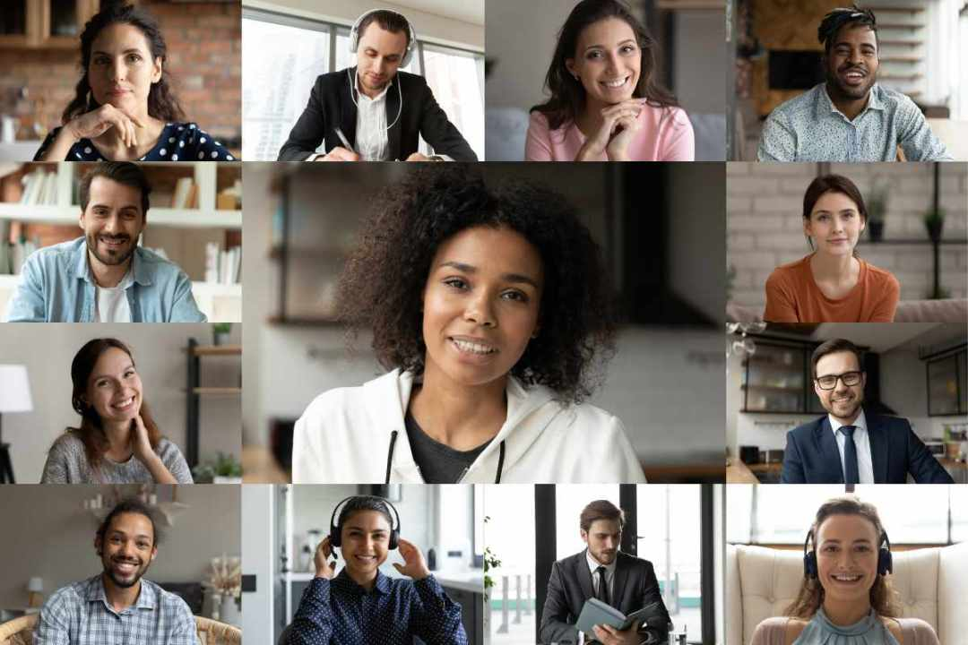 diverse business owners on virtual networking event   Your Complete Guide to Hosting Successful Virtual Events on Alignable   https://growyourbusiness.alignable.com/alignable-101/how-to-host-virtual-events-on-alignable