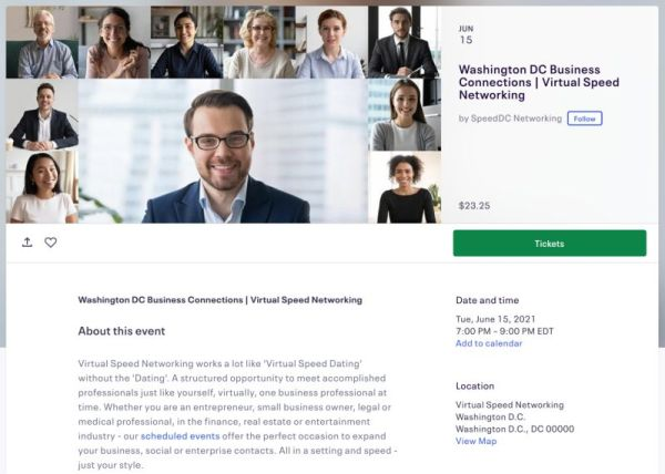 speed networking virtual event examples | Virtual Events Guide: Ultimate Playbook for Small Biz Owners