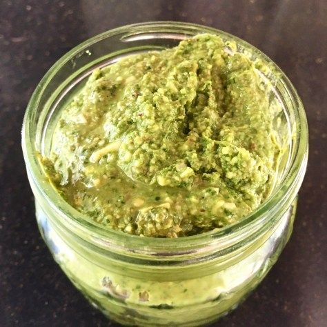 Healthy Pesto in a Mason Jar