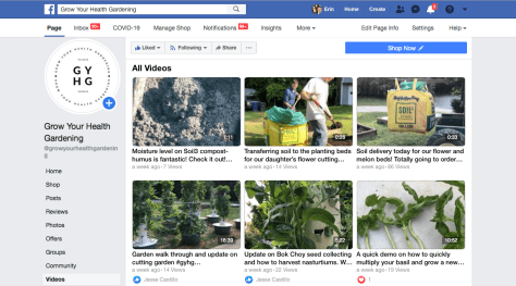 Grow Your Health Gardening Facebook Live Video Library Archive