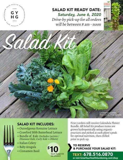 Grow Your Health Salad Kit 6-6-20