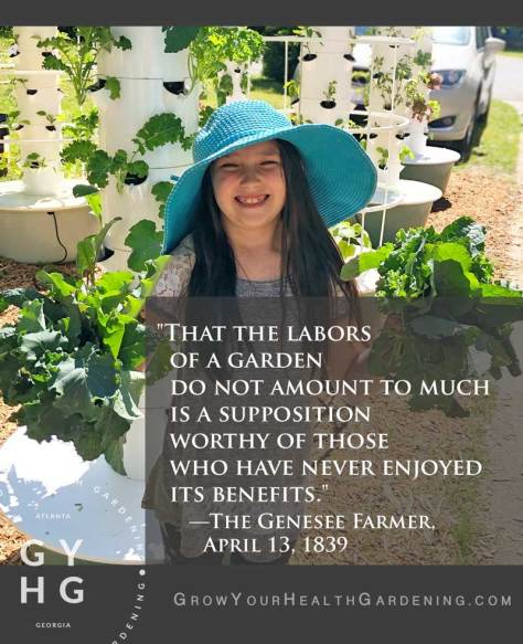 Quote on benefits of gardening