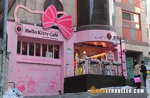 hello kitty cafe seoul, hello kitty cafe asia locations, hello kitty seoul korea