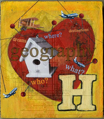 home is where the heart is painting by Christine Kaaloa