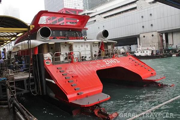 how to get to macau, taking the macau ferry