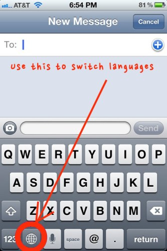 how to change language settings on your iphone, iphone keyboards global key