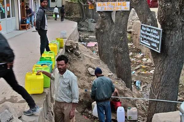 leh water shortage problems ladakh