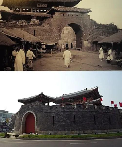suwon fortress historical photos, suwon hwaseong fortress korea, joseon dynasty