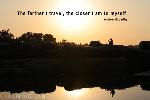 travel quotes, andrew mccarthy quote, travel inspirations