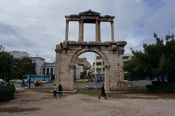 handrians arch, handrians arch athens