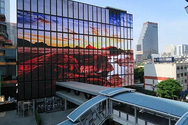 video murals bangkok, video murals, video installation bangkok