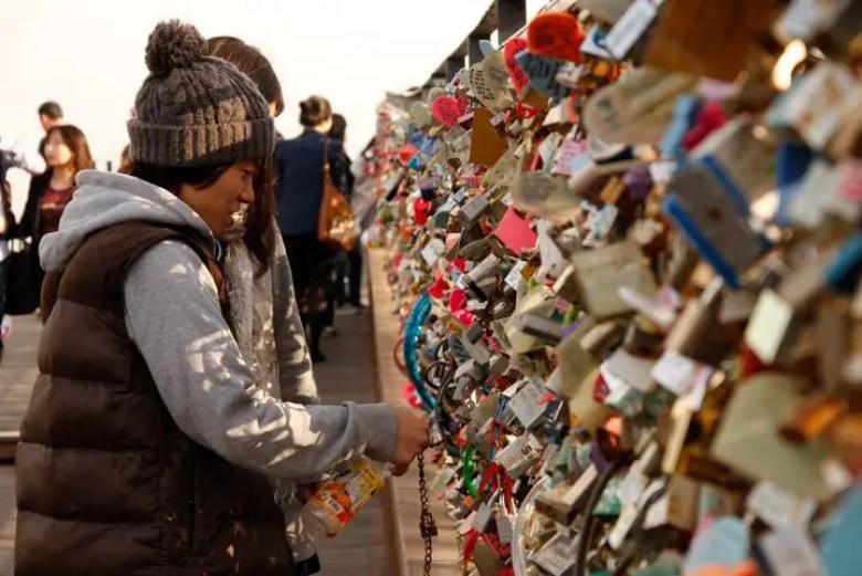 Locks of love seoul, namsan seoul tower, getting to namsan seoul tower, getting to locks of love seoul