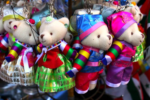 korean bear keychains, cute korean souvenirs, where to buy korean souvenirs
