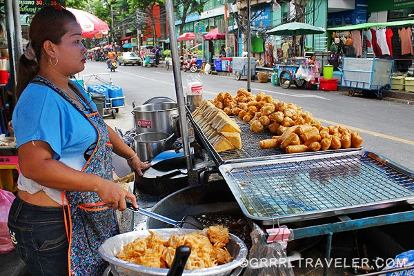 Bangkok street food, street food in Asia