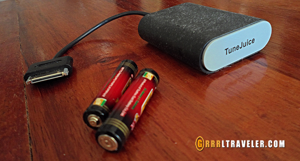 aaa external battery chargers, travel technology and gadgets, Griffin tune juice battery charger