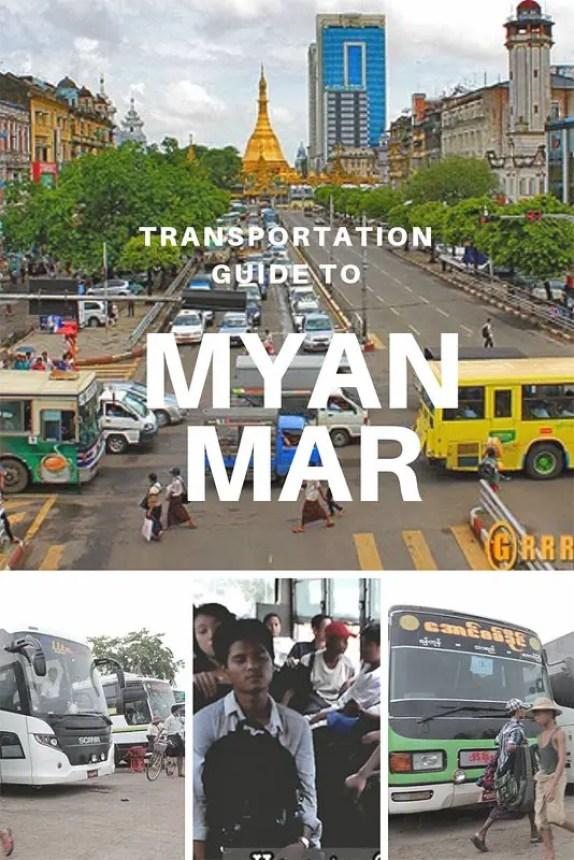 Transportation Guide to Myanmar, myanmar transportation