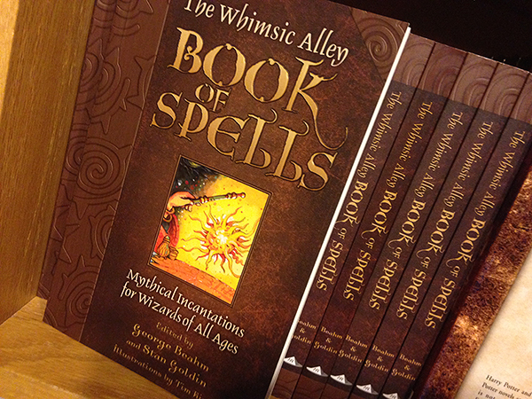 book of spells, harry potter book of spells, Whimsic Alley, harry potter store los angeles