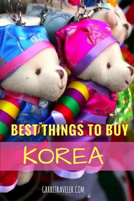 Best things to Buy Korea