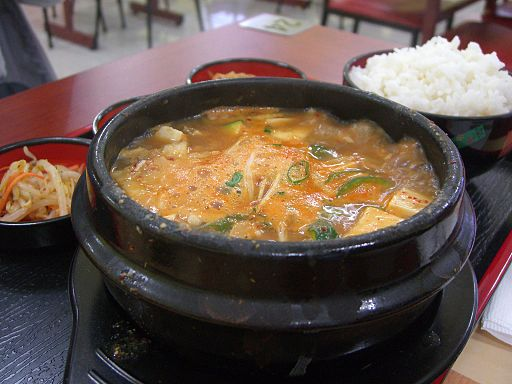 Doenjang jigae korean stew, doenjang jigae