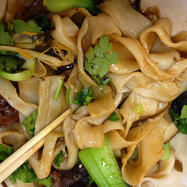 Hand pulled Noodles, Hand pulled Noodles wide, Hand pulled Noodles at Spicy Villlage