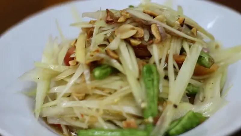 Som Tam, popular thai dishes