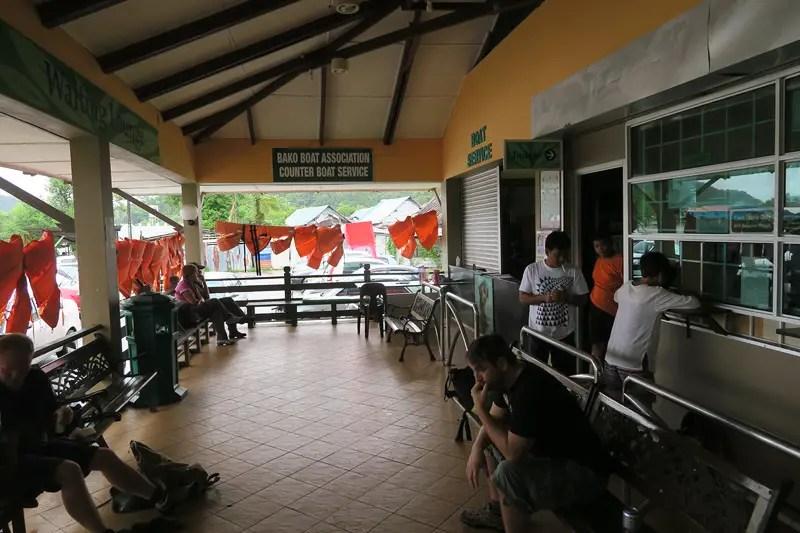 Bako National Park boat ticket counter, boat to bako