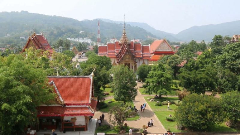 view from wat chalong, wat chalong phuket, famous temples phuket, Phuket Travel Guide, things to do in phuket, things to