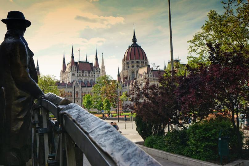 Statue of Imre Nagy and Hungarian Parliament Building Budapest, budapest travel guide, best things to do budapest