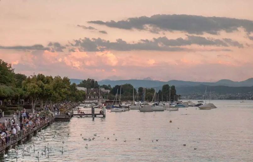 lake zurich at sunset,48 Hour in Zurich, best things to do zurich, what to do zurich, Zurich Travel Guide