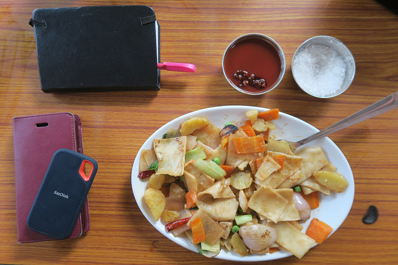 thenduk, must try foods boudha, boudha foods, bodhanath stupa, sky cafe, sandisk extreme portable ssd