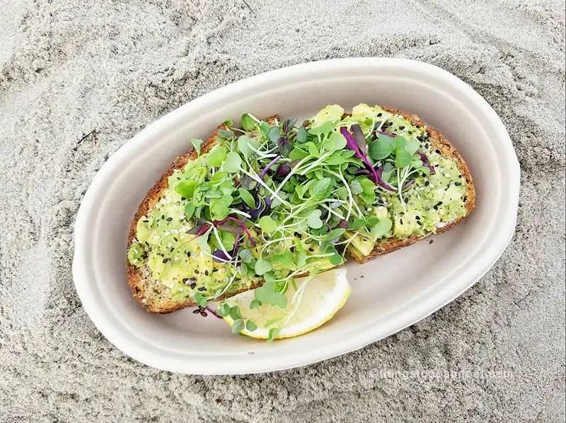 avocado toast, best foods to eat in san diego