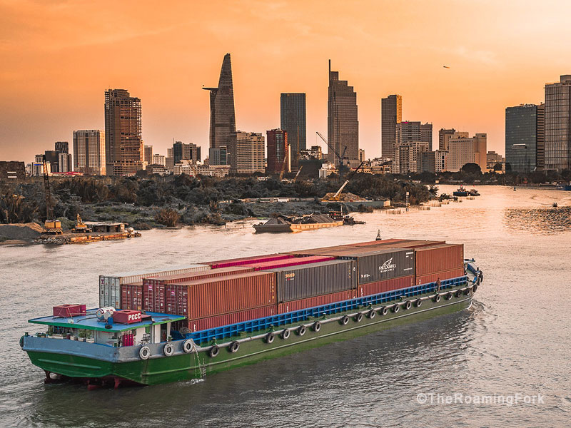 Skyline at Sunset, Ho Chi Minh travel guide, best things to doHo Chi Minh