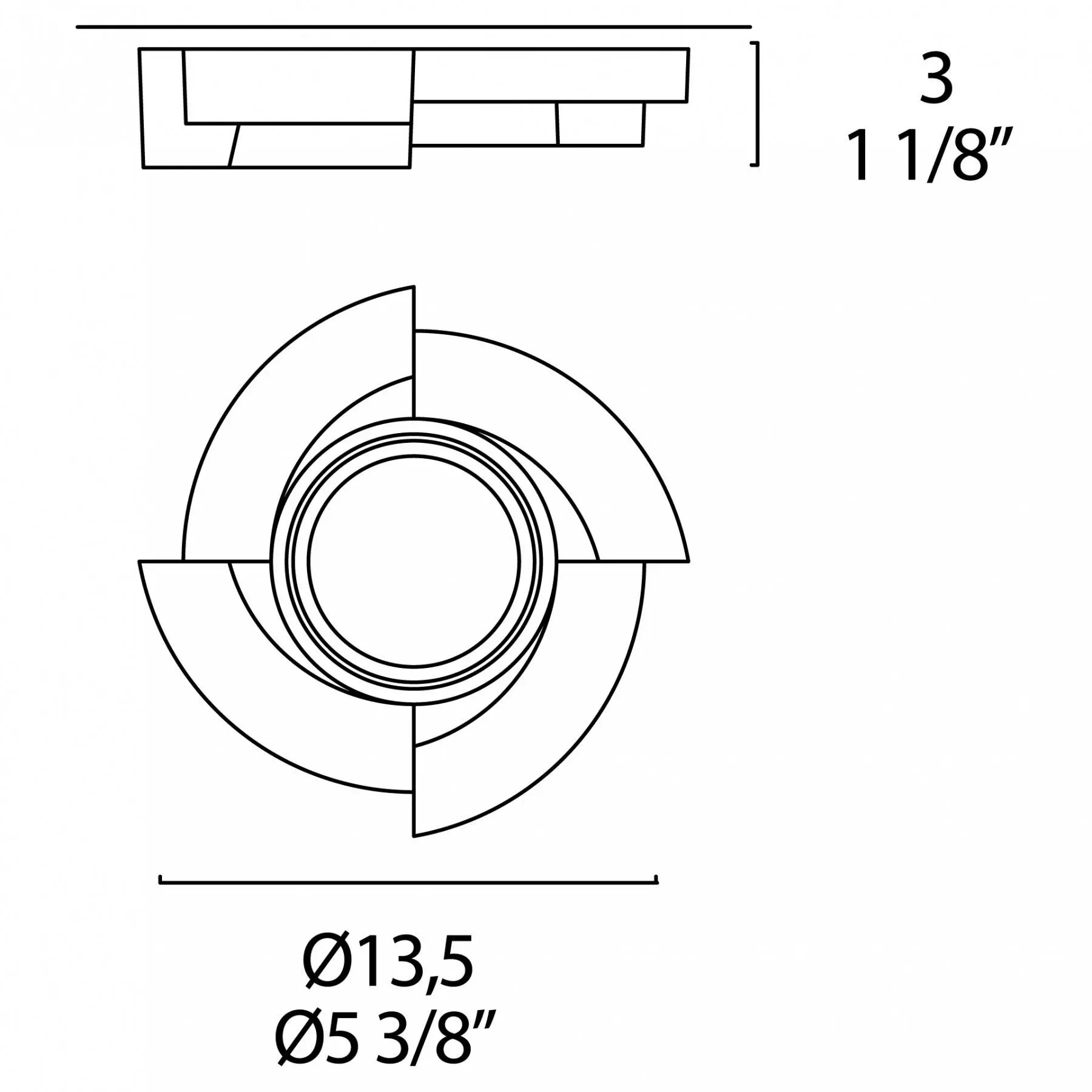 Leucos Step Recessed Downlight