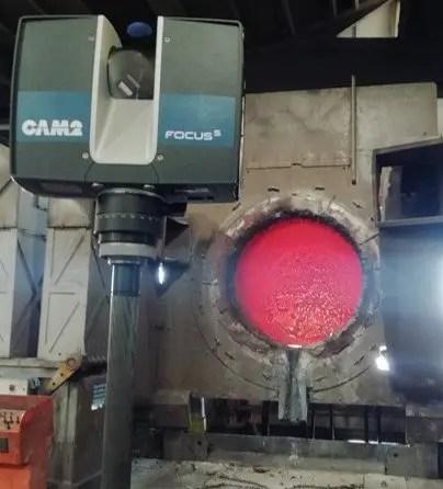 acciaierie rubiera misurazioni con laser scanner
