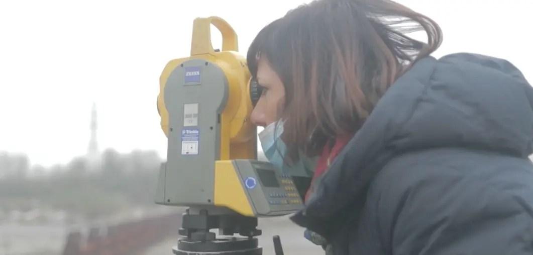 Impresa edile modena rilevazione laser di un fiume