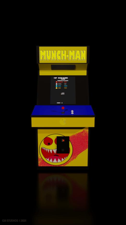 Munch-Man Arcade Machine front view