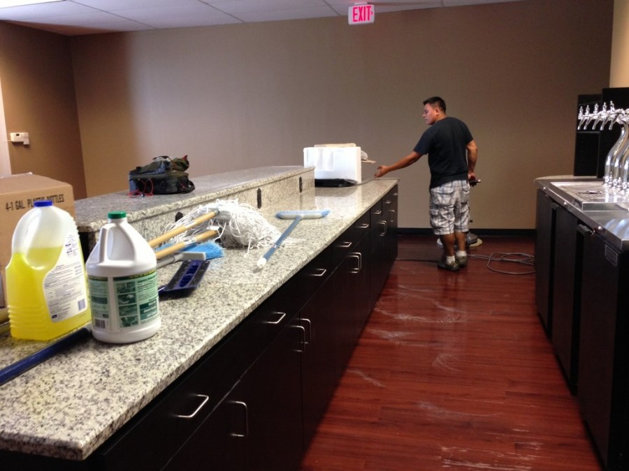 Waxing and Polishing Floors in Irving, Texas