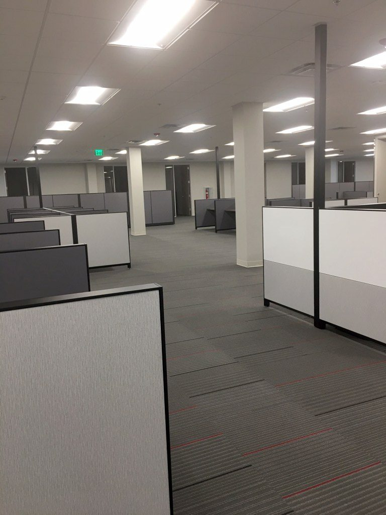 %name Workforce of Texas Office Building Final Post Construction Cleaning in Dallas, TX